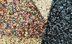 Recycled glitter: new colors